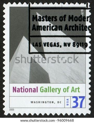 USA - CIRCA 2005: A postage stamp printed in USA shows the image of John Hancock Center (Chicago, IL). Modern American Architecture, circa 2005 - stock photo