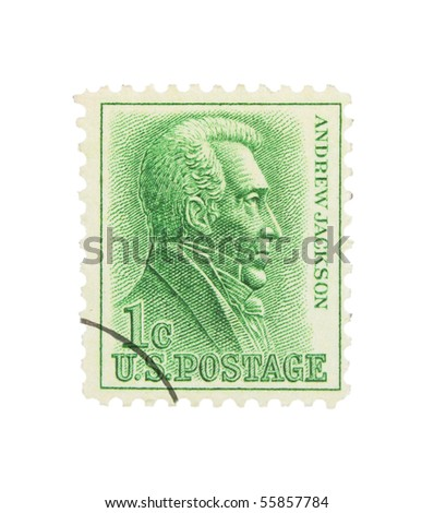 USA - CIRCA 1963: A stamp printed in the USA showing Andrew Jackson, circa 1963