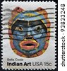 USA - CIRCA 1980 : A stamp printed in the USA shows Bella Coola, Indian Art, circa 1980 - stock photo