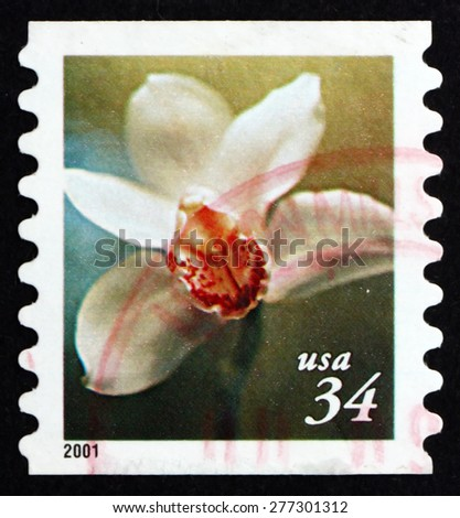 USA - CIRCA 2000: a stamp printed in the USA shows Flower, circa 2000 - stock photo
