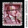 USA - CIRCA 1963: A stamp printed in the USA  shows image of John Jay , one of the Founding Fathers of the United States of America, 1st Chief Justice of the Supreme Court of the USA , circa 1963 - stock photo