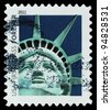 USA - CIRCA 2011: A stamp printed in US shows image of Statue of Liberty, circa 2011 - stock photo