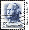 USA - CIRCA 1962: A stamp printed in USA shows a portrait of president George Washington by Houdon, circa 1962. - stock photo