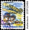 USA - CIRCA 1978: A stamp printed in USA shows a Wright Brothers, Flyer A and Shed, circa 1978 - stock photo