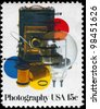USA - CIRCA 1978: A Stamp printed in USA shows the Photographic Equipment, Photography Issue, circa 1978 - stock photo