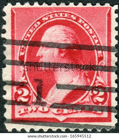 USA - CIRCA 1890: Postage stamp printed in the USA, a portrait of 1st President of the United States, founder of the United States, George Washington, circa 1890 - stock photo