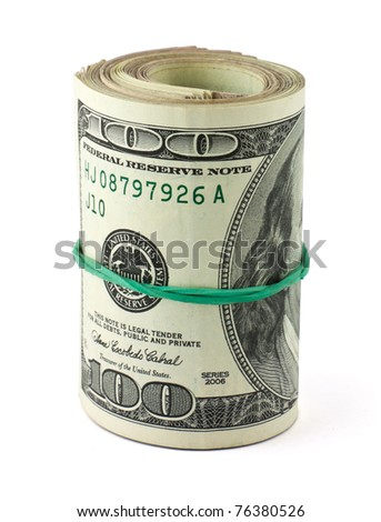 USA dollars on white background - stock photo