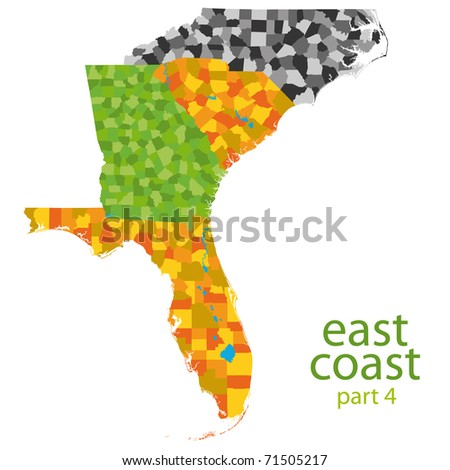 East Coast Map Stock Images RoyaltyFree Images Vectors - East coast map