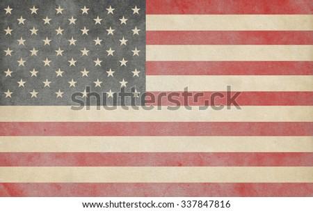 USA flag. American flag - stock photo