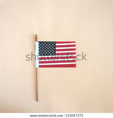 USA flag. American flag. American flag on light colorful background.