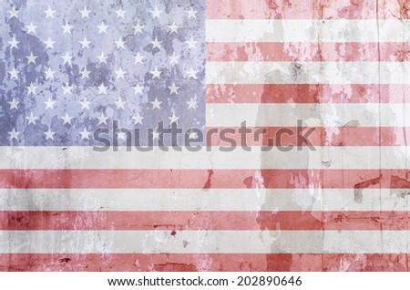 USA flag background - stock photo