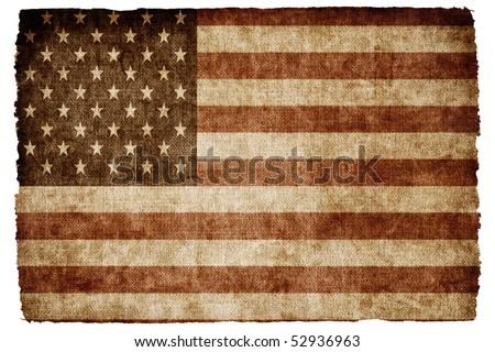 USA flag.Grunge style. - stock photo