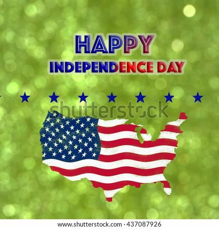 Usa Map Flag Paint Effect On Stock Photo Shutterstock - Bokeh us map