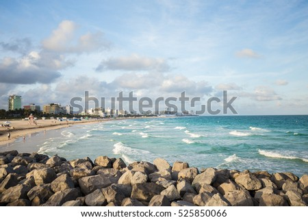 USA, FLORIDA, MIAMI, MIAMI BEACH. November 29, 2016. New South Point Park Pier. Great place for fishing and relaxing on South Beach. Editorial use only.