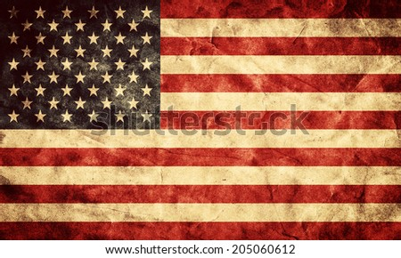 USA grunge flag. Vintage, retro style. High resolution, hd quality. Item from my grunge flags collection. - stock photo