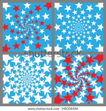 USA Holiday Background Set. Veterans Day. Independence Day. Memorial Day