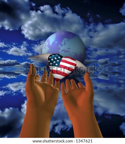 USA is released to the world - stock photo