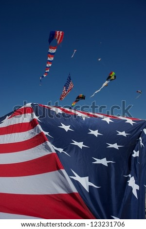USA kite flying