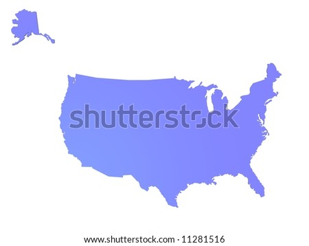 usa map - stock photo