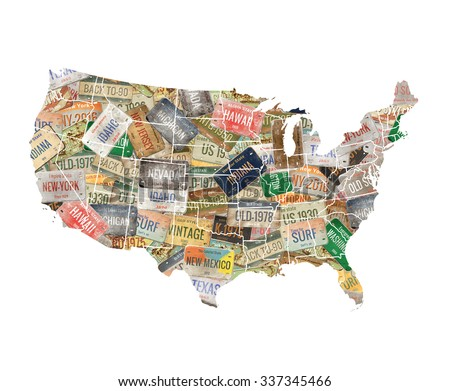 Old Usa Map On Wood Stock Photo 614864204 Shutterstock