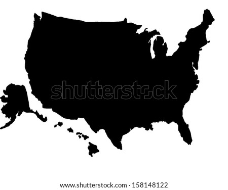 Usa Map Stock Illustration Shutterstock - Us map silhouette