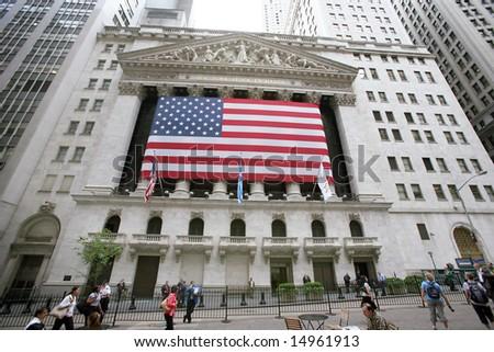 USA, New York, Wallstreet, - stock photo