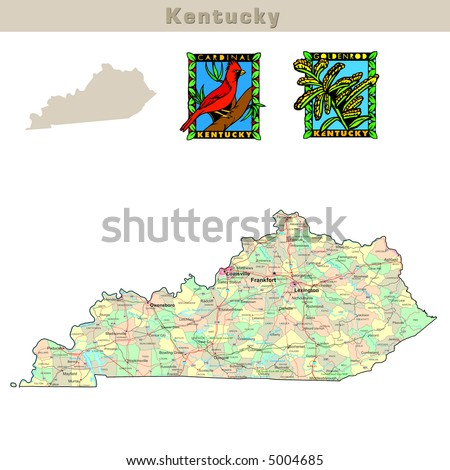 Kentucky Road Map Stock Images RoyaltyFree Images Vectors - Road map of kentucky