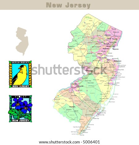 New Jersey Road Map Stock Images RoyaltyFree Images Vectors - Nj road map