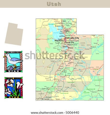 Utah Map Stock Images RoyaltyFree Images Vectors Shutterstock - Usa map utah