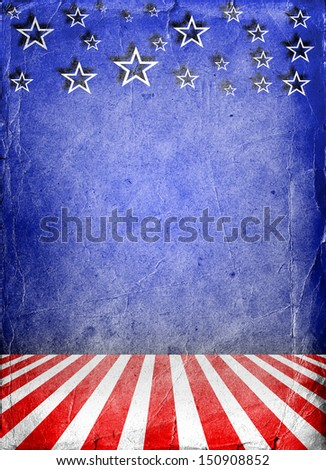 USA style background painted on grunge wall