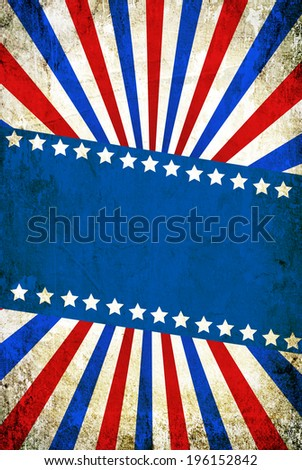 USA style grunge background with space for text - stock photo
