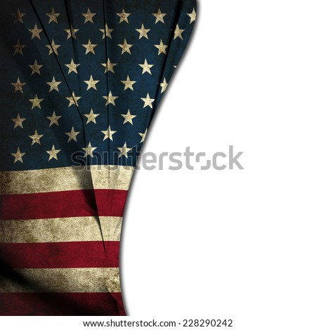 Usa vintage flag with space  - stock photo