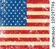 USA vintage grunge flag - stock