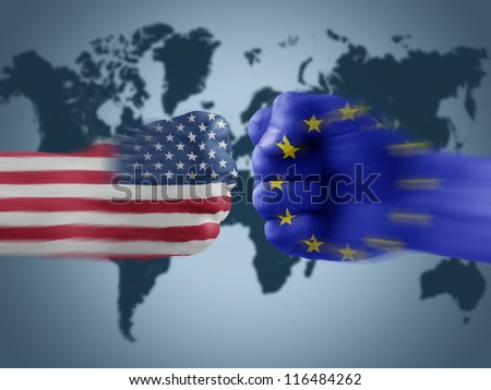 USA x EU - stock photo