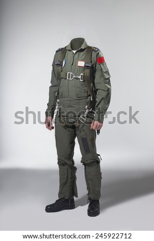 Usable fighter pilot's body  - stock photo