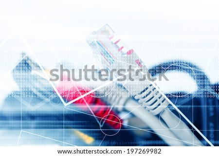 Usb Cable And Av Connector Background Series - stock photo