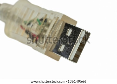 usb cable, symbol photo for networking, data transfer and internet - stock photo