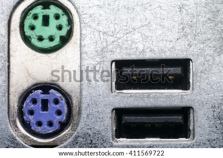 USB connection - stock photo