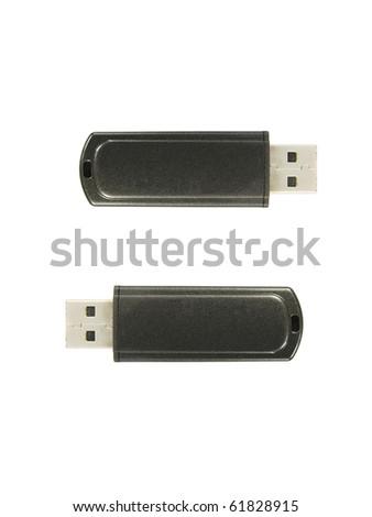 Usb flash drive isolated on white - stock photo