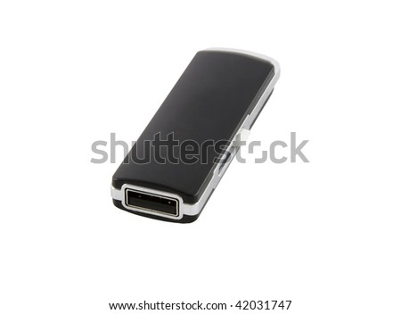 Usb flash drive memory isolated over white background.