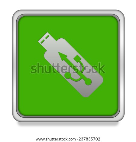 Usb square icon on white background