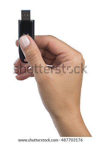 USB Stick in Hand