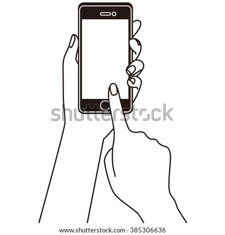 "Use the smart phone of outlines ""touch to blank display"""