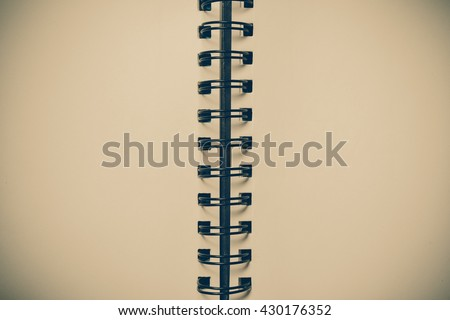 used blank note book with with filter effect retro vintage style - stock photo