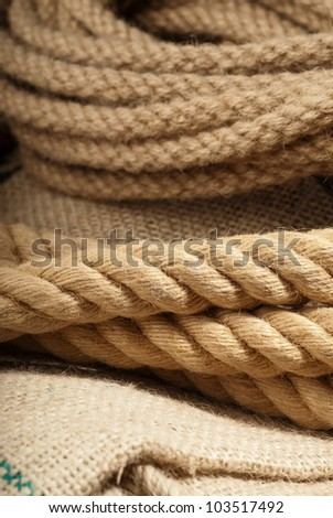 Used boat rope ready for the next tug