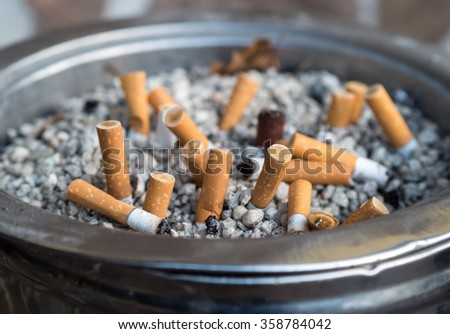Used cigarette for concept background - stock photo
