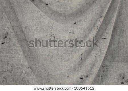 used fabric BLANK flag - close up - stock photo