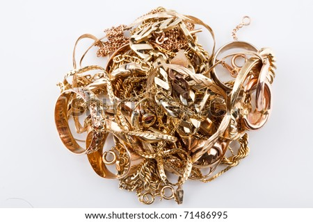 used gold for cash - stock photo