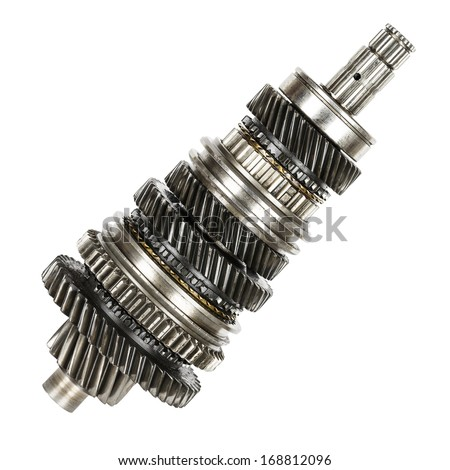Used mainshaft removed from the gearbox - stock photo
