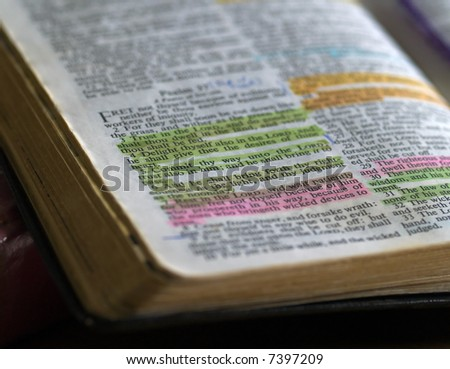 Used Old Bible - stock photo